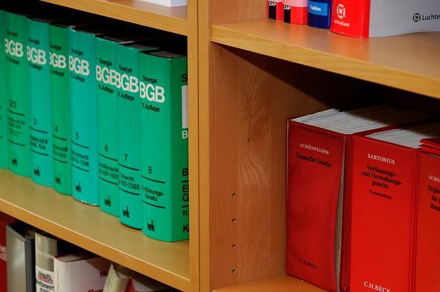 Bild verschiedenen Gesetzbüchern