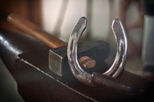 Bild Hufeisen und Werkzeug