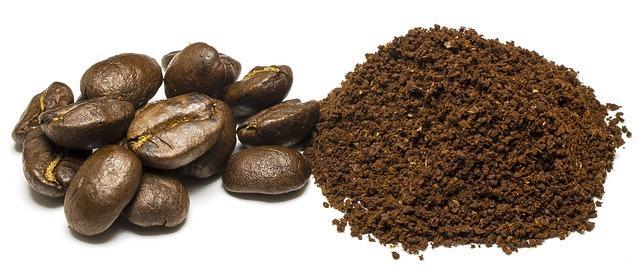 Bild Kaffeepulver und Bohnen