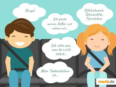 Grafik Kinderspiele für die Autofahrt