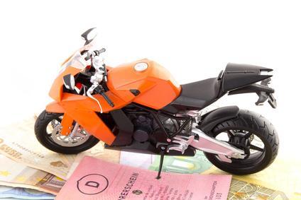 Bild von Motorrad mit Führerschein