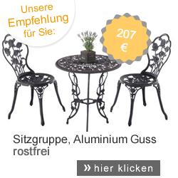 Sitzgruppe Aluminium Guss