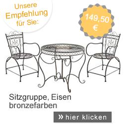 Sitzgruppe Eisen, bronzefarben