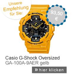 Casio Uhr gelb