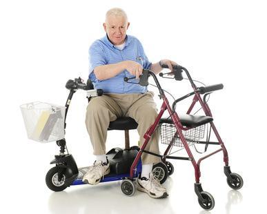 Bild von Gehhilfen für Senioren