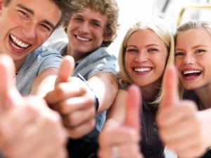 Bild fröhliche Studenten