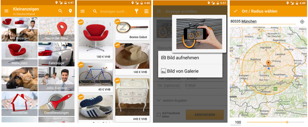 Screenshots markt.de App Android