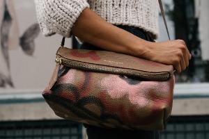Bild Handtasche Leder pflegen