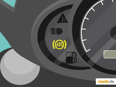 Bild Motorradanzeige mit gelben ABS-Zeichen