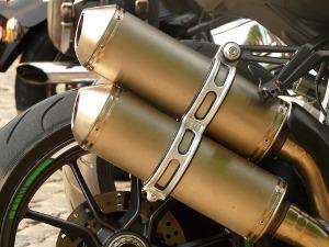 Bild Motorradauspuff