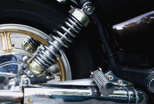 Bild Feder von einem Motorrad