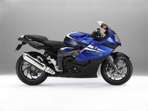 Bild blaues Motorrad