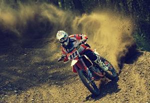 Bild Motocross-Rennfahrer