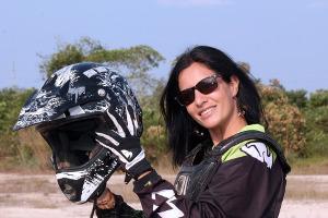 Bild Motorradfahren Frau