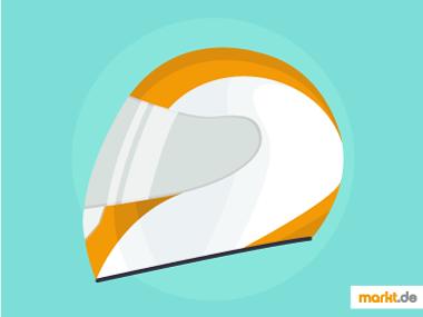 Bild weiß oranger Motorradhelm