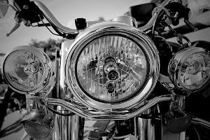 Bild Motorradlicht von vorne
