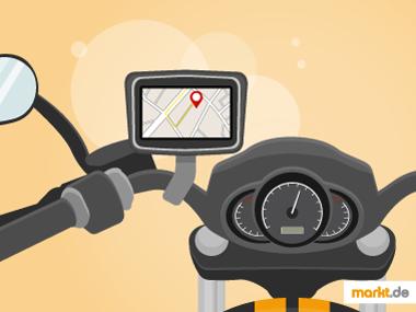 Bild Motorradlenker mit Navigationsgerät