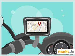 Bild Motorrad mit Navigationsgerät