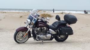 Bild Motorrad am Strand