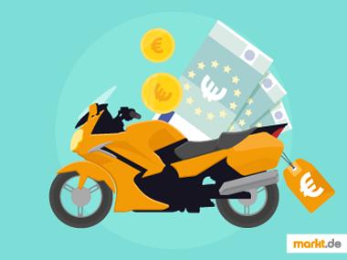 Bild Motorrad mit Geld