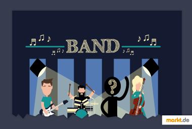 Infografik Bandmitglied finden
