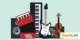 Bild verschiedene Musikinstrumente