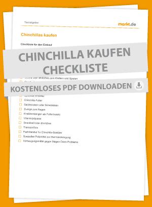 Checkliste Chinchilla Einkauf
