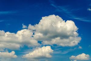 Bild Wolken Rattanmöbel witterungsbeständig