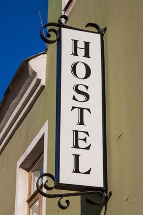 Bild Schild eines Hostels
