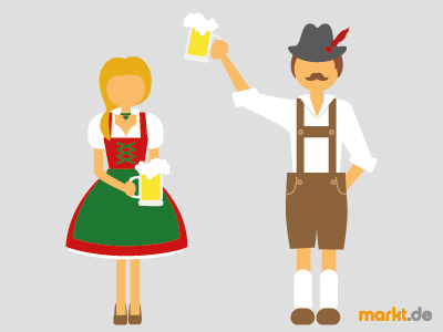 Grafik Oktoberfest Paar