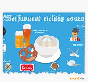 Bild Weißwurst richtig essen