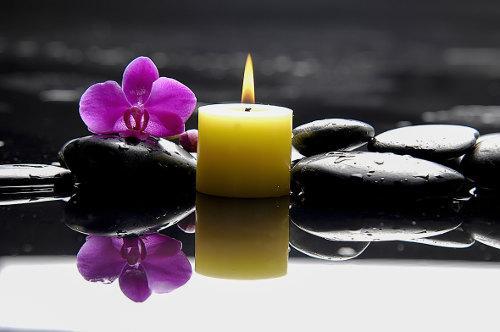 Kerze für Entspannung