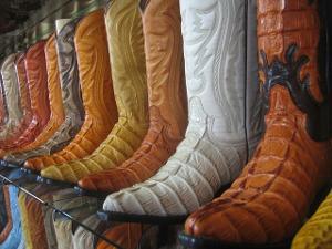 Bild Mehrere Cowboystiefel in verschiedenen Farben