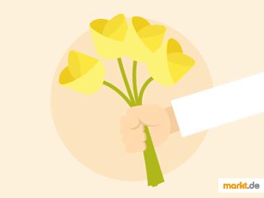 Grafik Blumengeschenk
