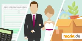 Bild Steuererklärung, Hochzeit und Umzug