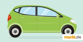 Bild grünes Auto von der Seite