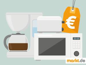 Bild Kaffeemaschine, Mikrowelle und Toaster