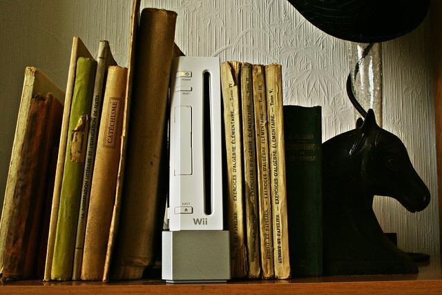 Bild Die Wii zwischen alten Büchern