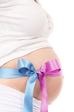 Bild Schwangerschaftsbauch mit Schleife