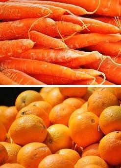 Orangen und Karotten
