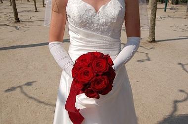Bild Braut mit Brautstrauß