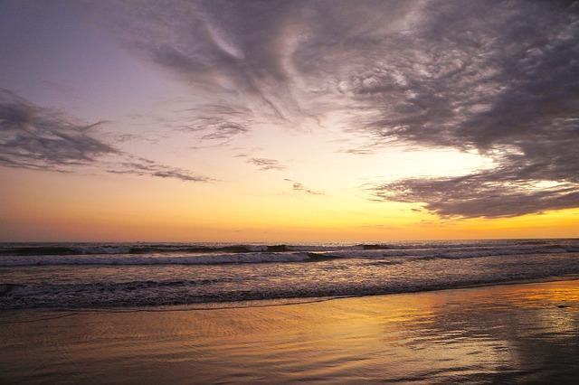 Bild Strand bei Sonnenuntergang