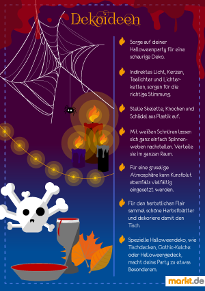 Grafik Deko-Ideen für Halloween