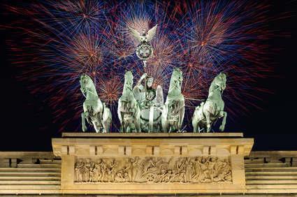 Bild Feuerwerk am Brandenburger Tor