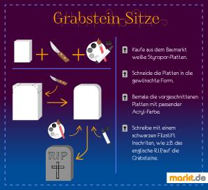 Grafik Grabsteinsitze als Halloween-Dekoration