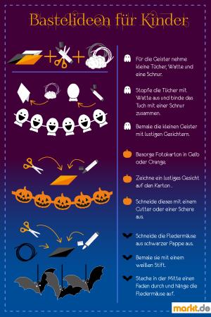 Grafik Bastelideen für Halloween-Dekoration