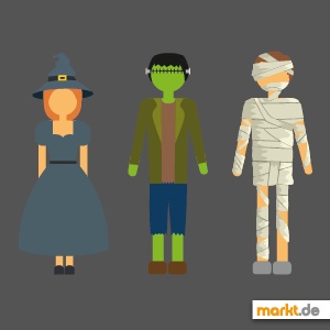 Grafik Halloween Figuren