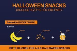 Grafik von Halloween Rezepten und Snacks
