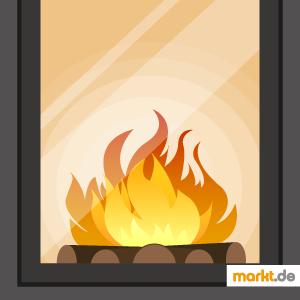 Bild brennendes Feuer im Kamin