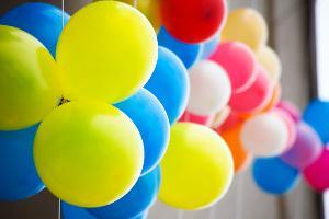 Bild bunte Luftballons
